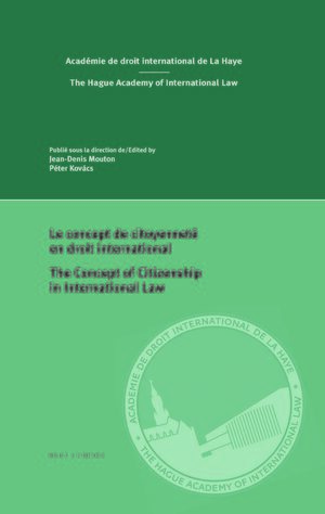Cover Le concept de citoyenneté en droit international/The concept of citizenship in international law