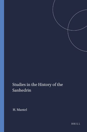 Cover Studies in the History of the Sanhedrin