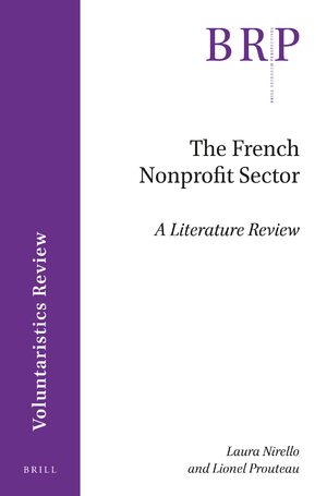 Cover The French Nonprofit Sector