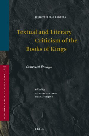 Cover Textual and Literary Criticism of the Books of Kings