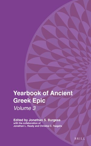 Cover Yearbook of Ancient Greek Epic