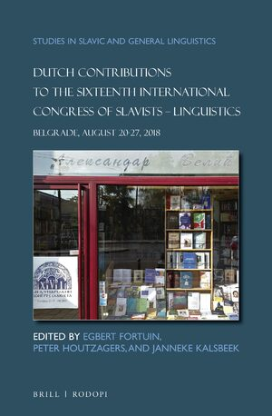 Cover Dutch Contributions to the Sixteenth International Congress of Slavists. Linguistics