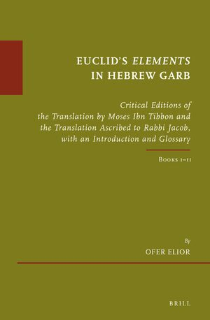 Cover Euclid's <i>Elements</i> in Hebrew Garb