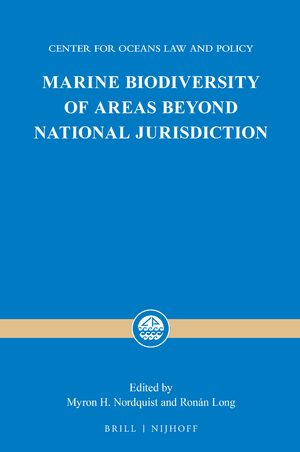 Cover Marine Biodiversity of Areas beyond National Jurisdiction