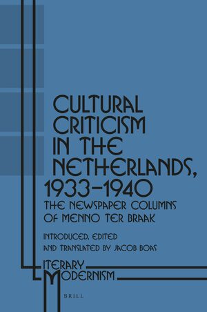 Cover Cultural Criticism in the Netherlands, 1933-1940