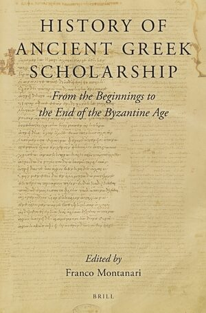 Cover History of Ancient Greek Scholarship