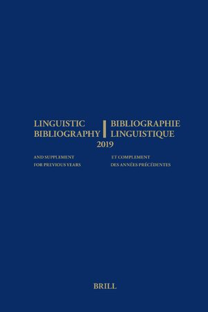 Cover Linguistic Bibliography for the Year 2019 / Bibliographie Linguistique de l'année 2019