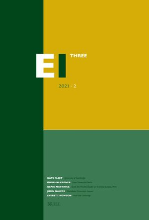 Cover Encyclopaedia of Islam - Three 2021-2