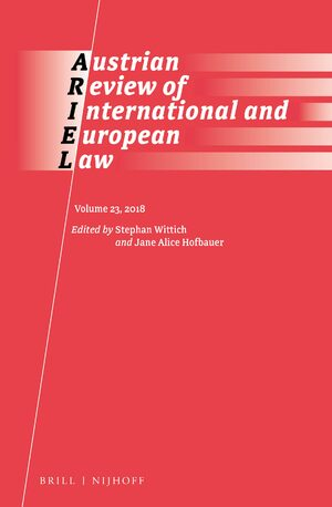 Cover Austrian Review of International Law (2018)