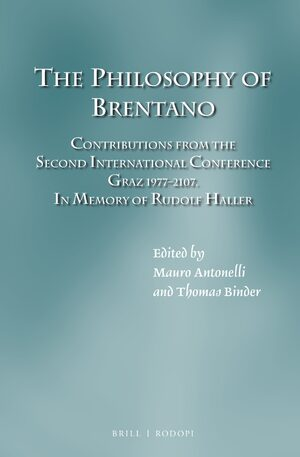 Cover The Philosophy of Brentano