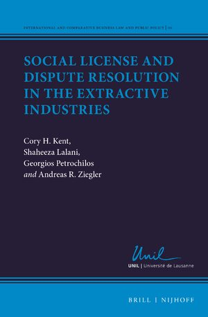 Cover Social License and Dispute Resolution in the Extractive Industries