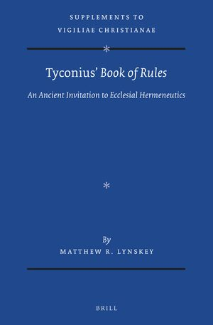 Cover Tyconius' <i>Book of Rules</i>