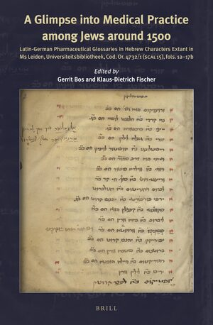 Cover A Glimpse into the Medical Practice among Jews around 1500