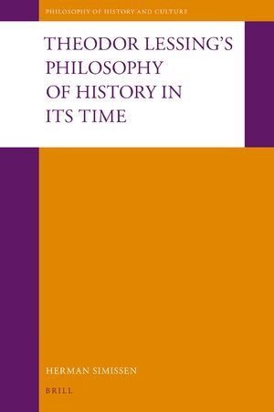 Cover Theodor Lessing's Philosophy of History in Its Time