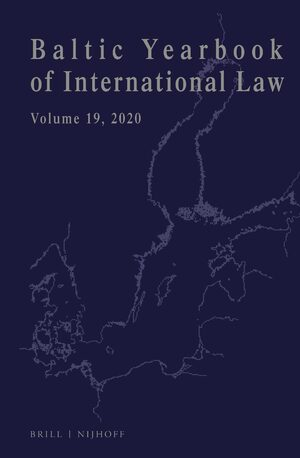Cover Baltic Yearbook of International Law, Volume 19 (2020)