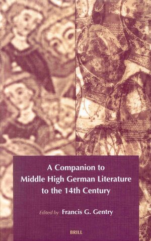 Cover A Companion to Middle High German Literature to the 14th century