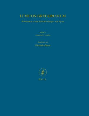 Cover Lexicon Gregorianum, Volume 5 Band V καγχασμός-κωφόω