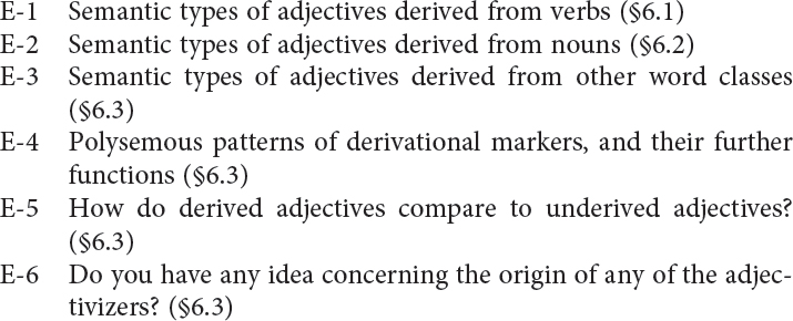 Word-Class-Changing Derivations in Typological Perspective