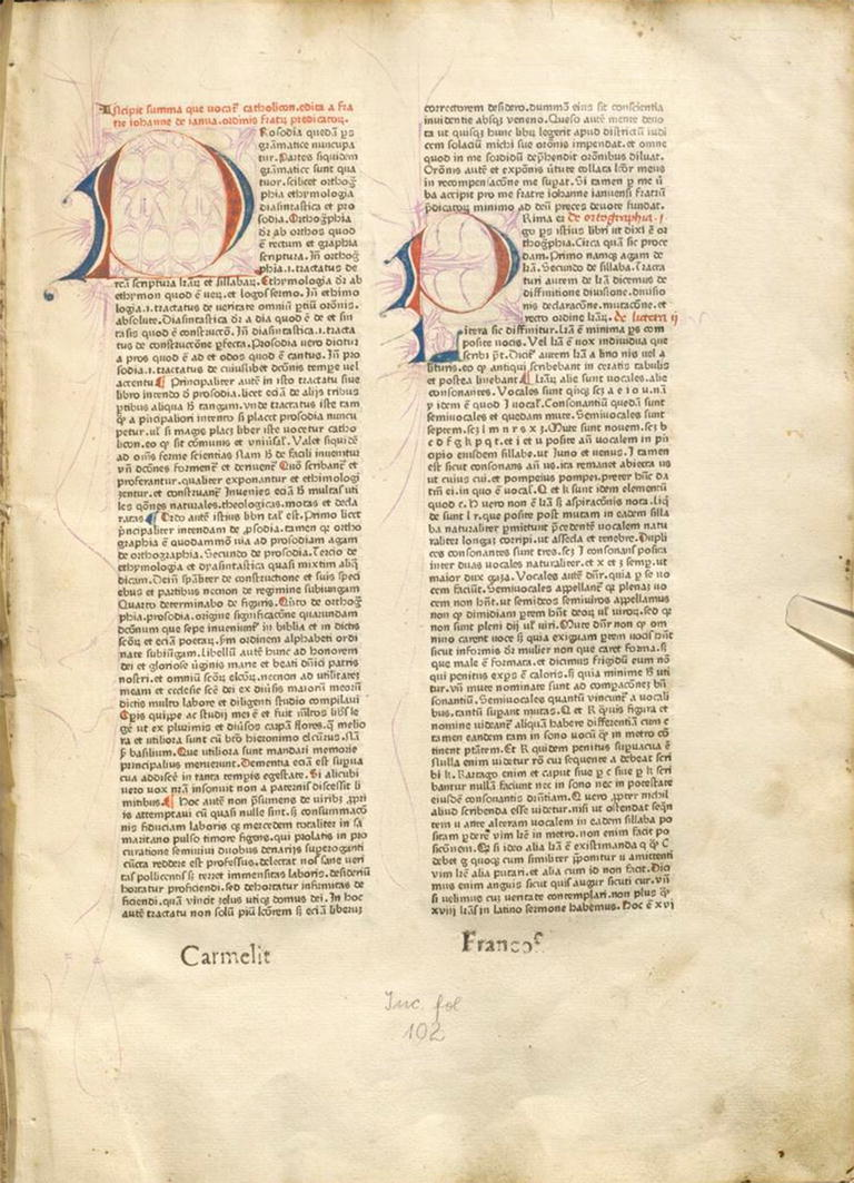 The Mainz Catholicon 14601470 An Experiment In Book Production And Gutenberg Printing Press Diagram As Suggests Figure 514