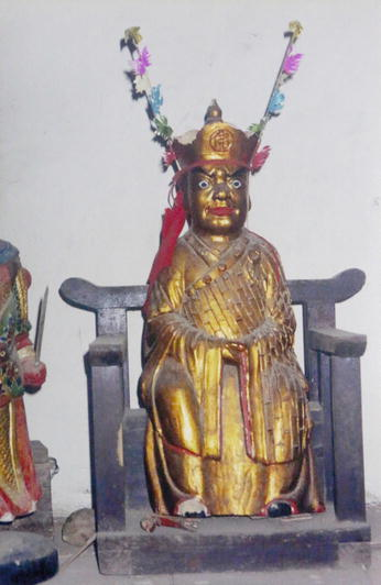 Chinese pure brass history god doctor Sun si miao statue