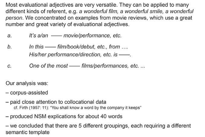 Wonderful, Terrific, Fabulous: English Evaluational