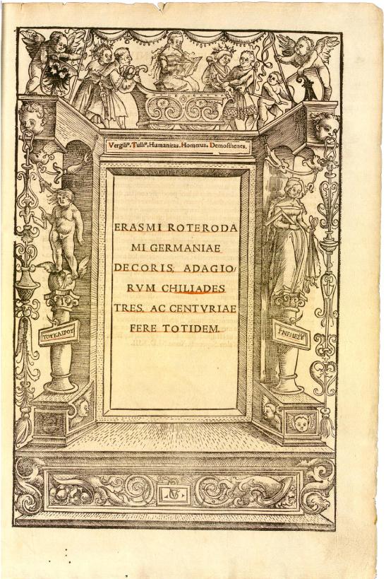 Illustrations: Title Page Border Frames in: Johann Froben