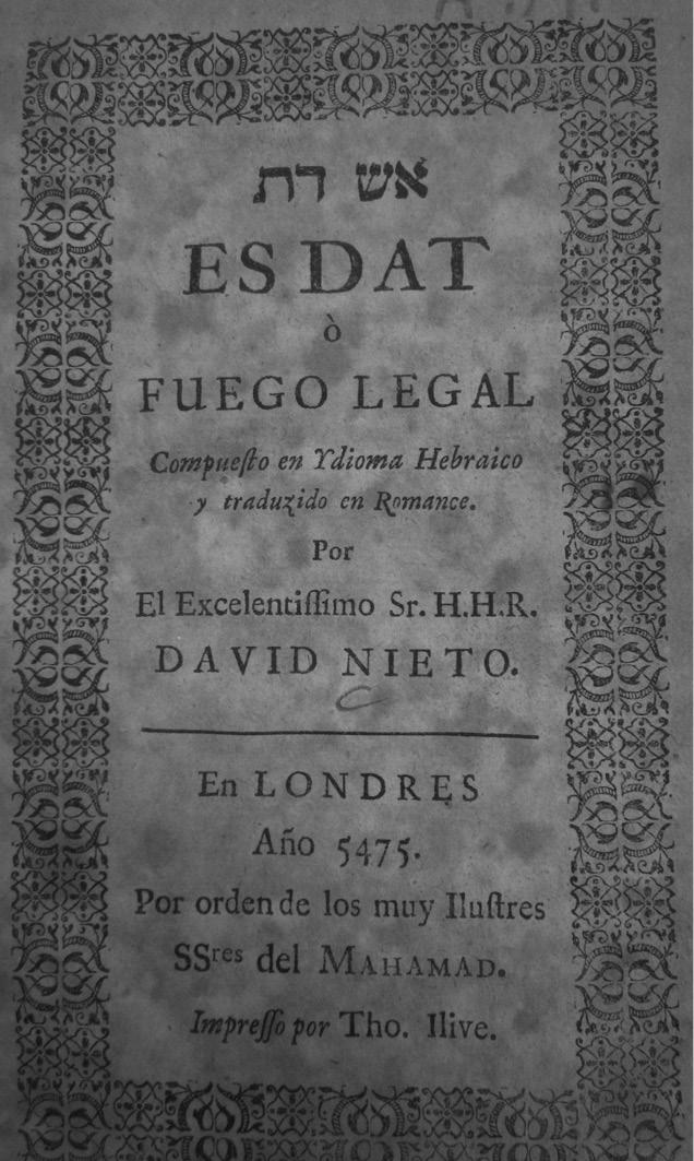 1693–1733: The Era of David Nieto in: Lost in Translation, Found in