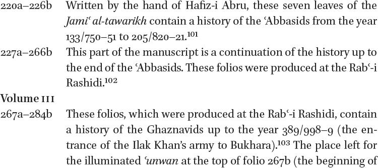 Majmaʿ al-tawarikh and Its Surviving Illustrated Copies in