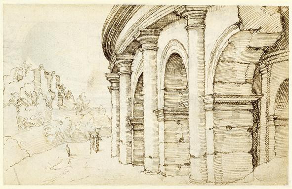In and Around the Forum in: Maarten van Heemskerck's Rome