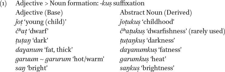 Derivational Morphology In Srinagar Burushaski