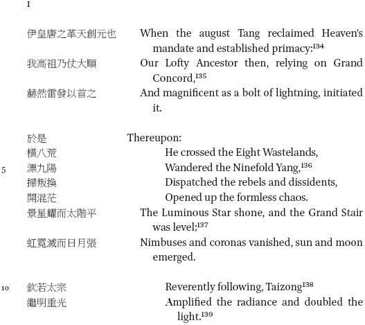 "Li Bai's ""Rhapsody on the Hall of Light"": A Singular Vision of"