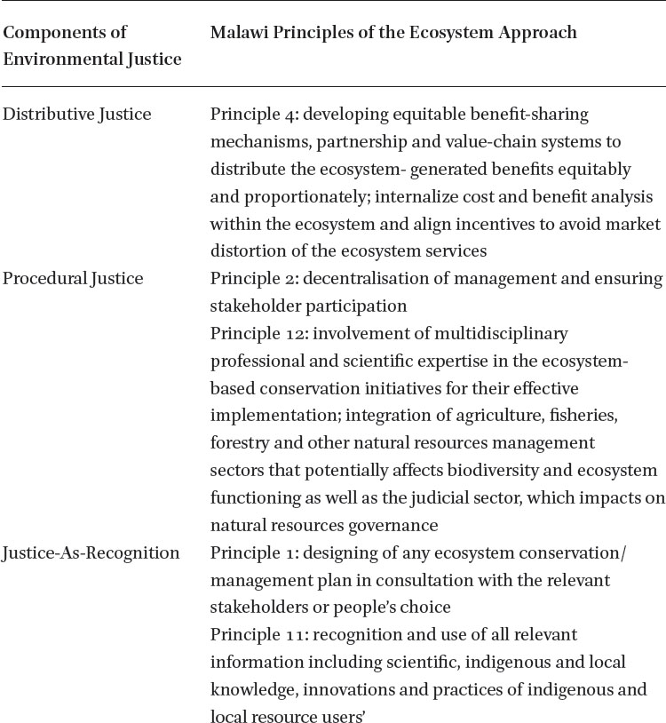 The Ecosystem Approach and Environmental Justice Nexus in