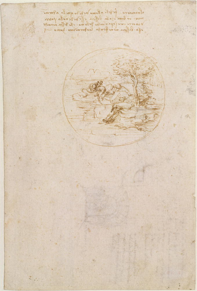 "Leonardo's Dragons—The ""Rider Fighting a Dragon"" Sketch as"