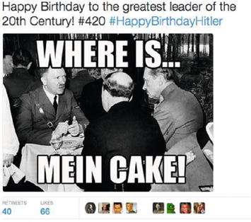 Awe Inspiring Fascism 2 0 Twitter Users Social Media Memories Of Hitler On His Birthday Cards Printable Riciscafe Filternl