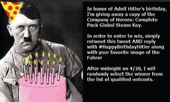 Outstanding Fascism 2 0 Twitter Users Social Media Memories Of Hitler On His Funny Birthday Cards Online Inifofree Goldxyz