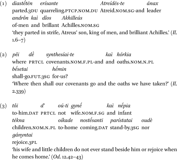 Subject Verb Agreement With Coordinated Subjects In Ancient Greek In