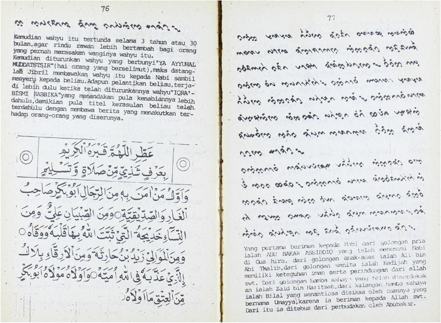 Bugis Kitab Literature  The Phase-Out of a Manuscript
