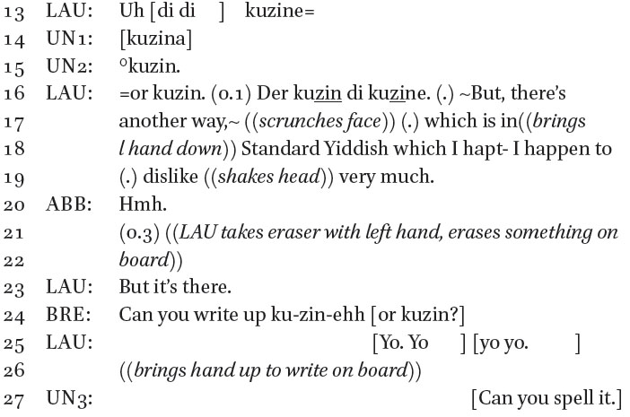 Contested Stance Practices in Secular Yiddish Metalinguistic
