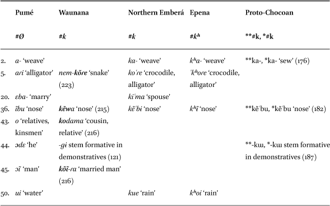 Pumé (Yaruro) and Chocoan in: Language Dynamics and Change