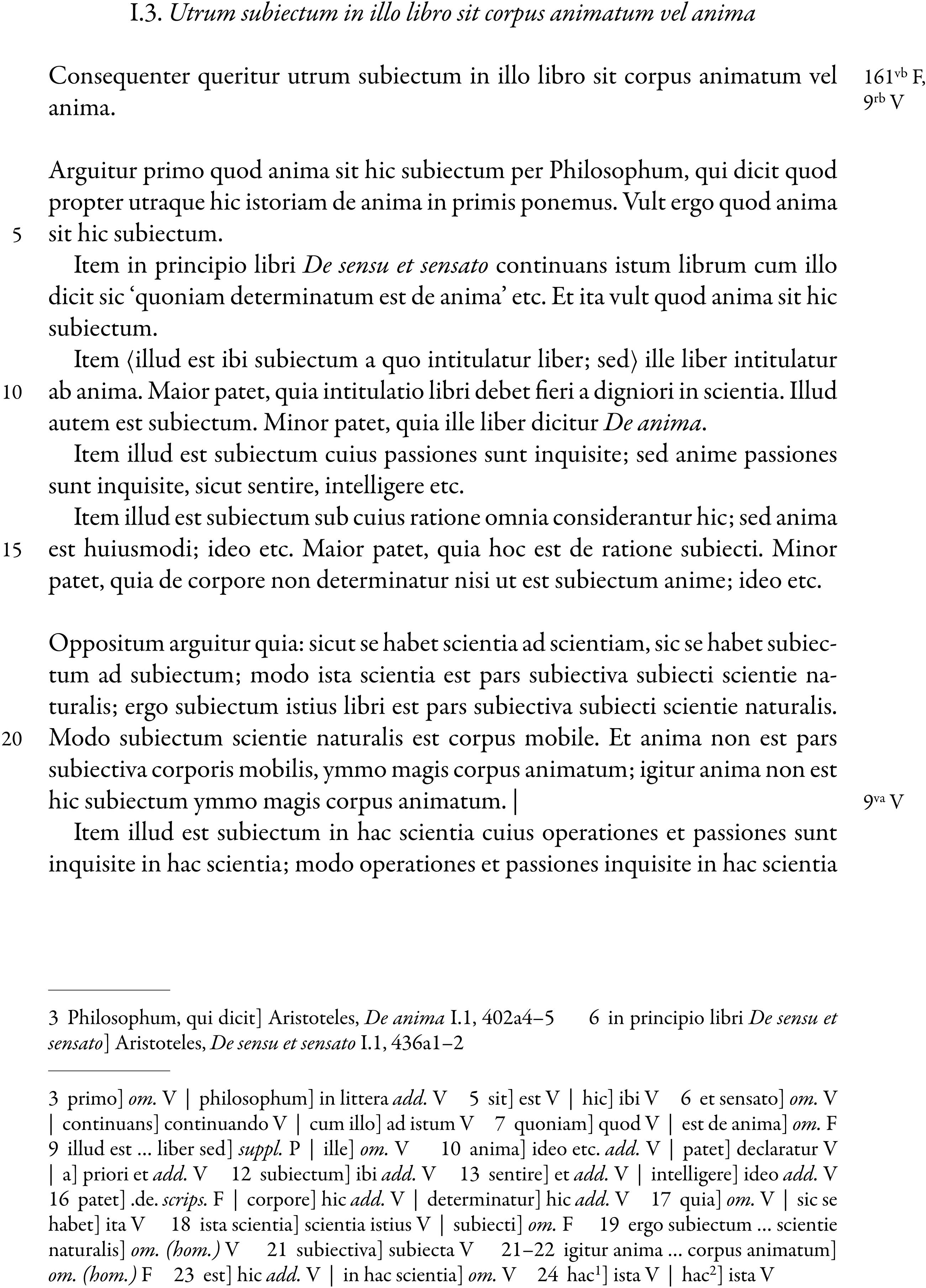 Radulphus Brito's Commentary on Aristotle's De anima in: Vivarium